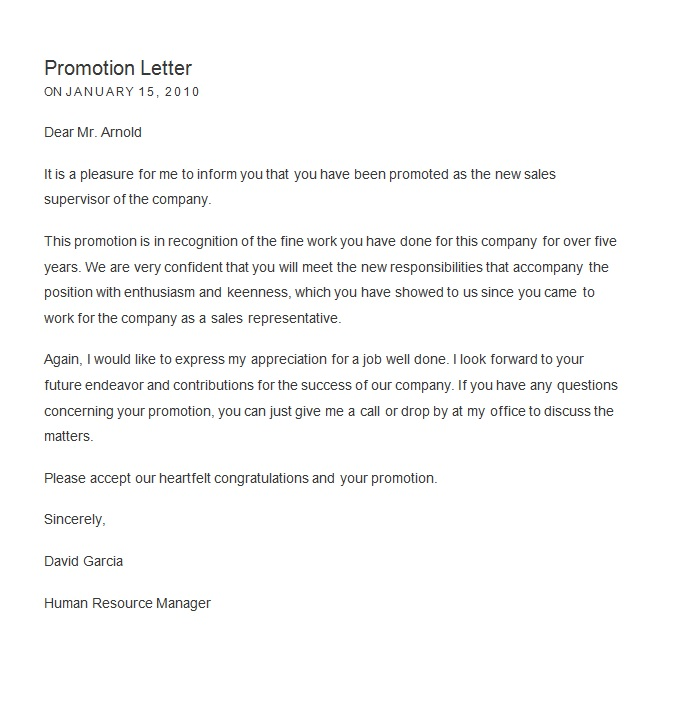 General Employment Recommendation Letter Teacher