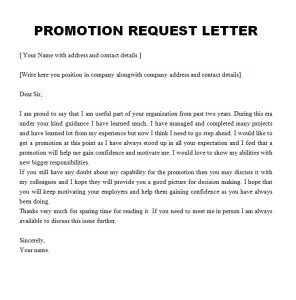 promotion request letter