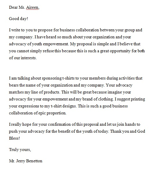 proposal letter in microsoft word archives
