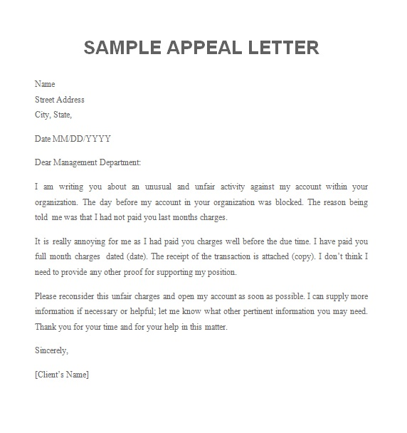 How to write an appeal letter for college admission