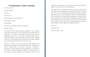 termination letter sample image
