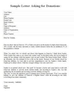 letter asking for money for charity letter asking for donations free sample letters 15976